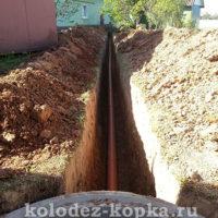 Прокладка труб для канализации