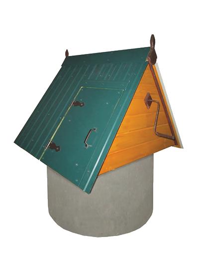 домик для колодца из дерева ДК1.1М