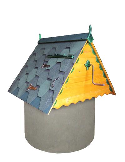 домик для колодца из дерева и металлочерепицы ДК1.2М