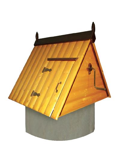 домик для колодца из дерева ДК1.3