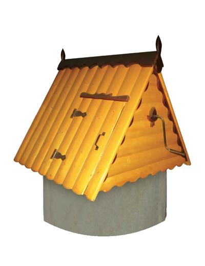 домик для колодца из дерева и металла ДК1.4