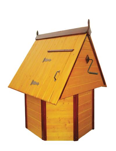 домик для колодца 2.1 Имитация бруса, ворот из металла