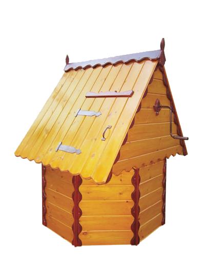 домик для колодца из дерева, металла и бруса ДК2.1