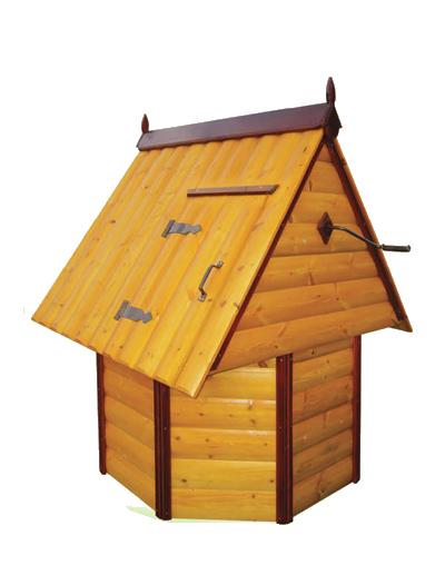 домик для колодца 2.3 Имитация бруса, ворот из металла