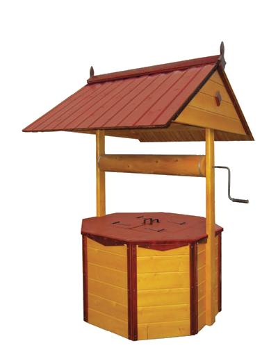 домик для колодца ДК3.1 Имитация бруса, ворот из металла, два слоя краски