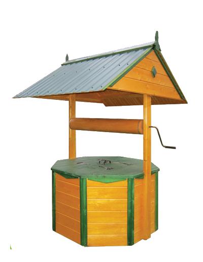 домик для колодца 3.1МП Имитация бруса, ворот из металла,металлочерепица