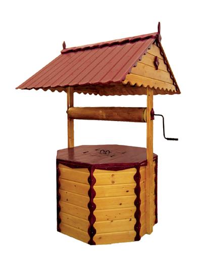домик для колодца ДК3.2 Имитация бруса, ворот из металла, два слоя краски