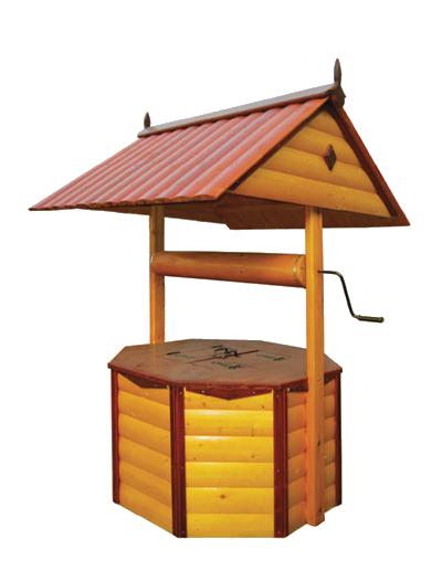 домик для колодца ДК3.3 Имитация бруса, ворот из металла, два слоя краски