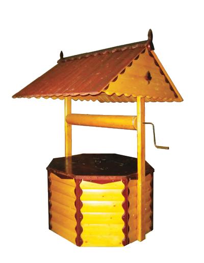домик для колодца ДК3.4 Имитация бруса, ворот из металла, два слоя краски
