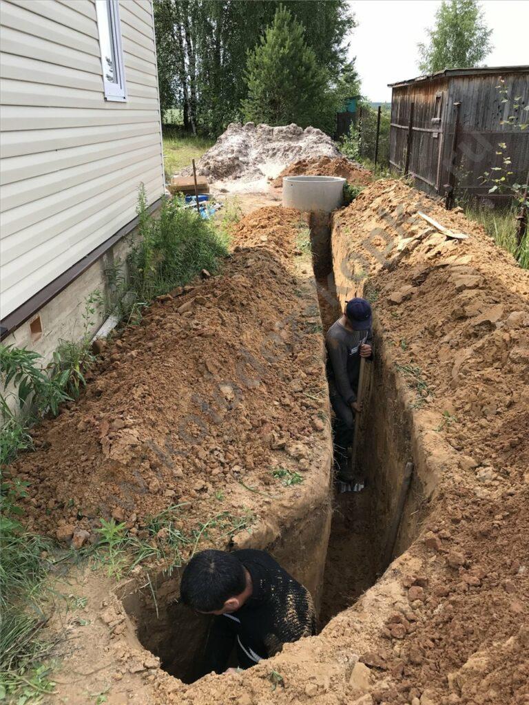 траншея под водопровод цена под ключ