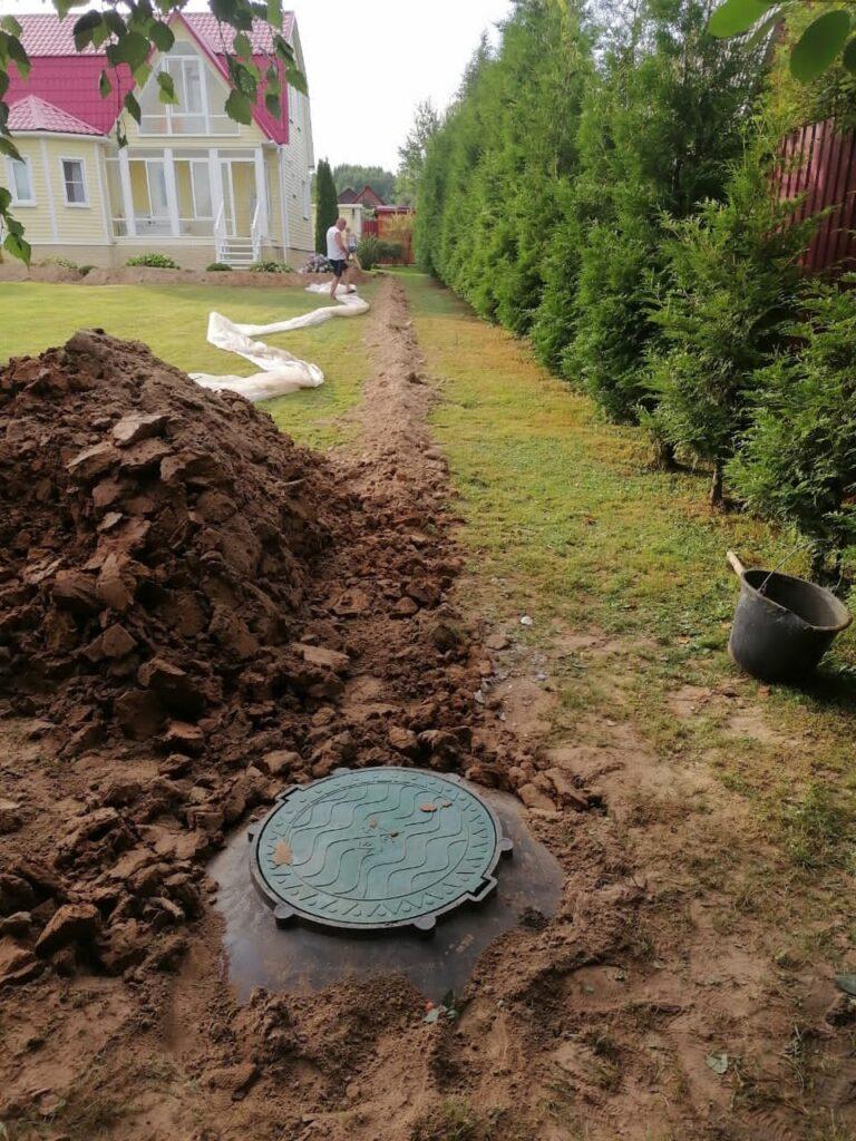 как мы устанавливаем септик из колец в Переславле